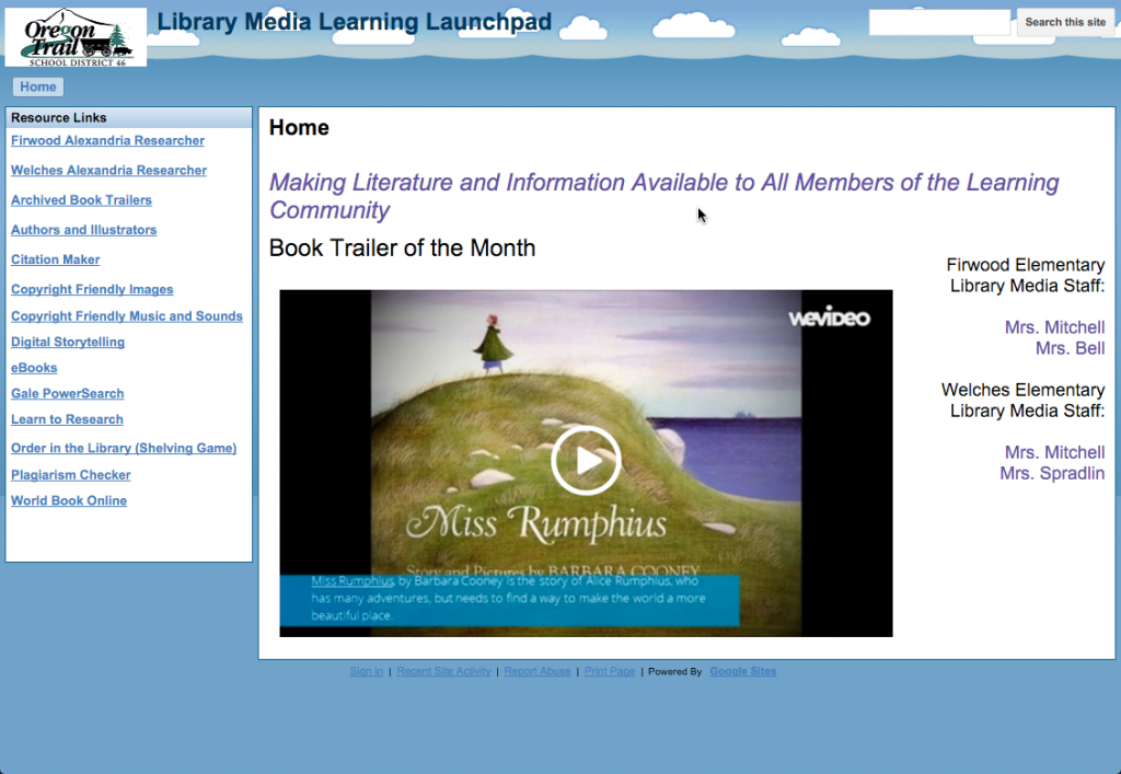 Library Learning Launchpad